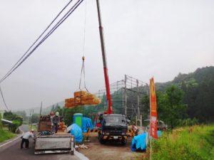 組立て工事の写真